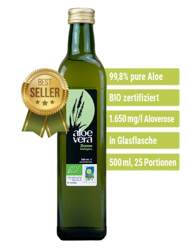 6 x Aloe Vera Saft + 1 Gel 99% gratis